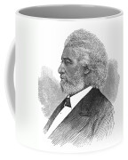Frederick Douglass (c1817-1895). American Abolitionist. Wood Engraving, American, 1877 Coffee Mug