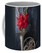 French Horn With Gladiolus Coffee Mug