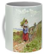French Peasants On A Path Coffee Mug by Daniel Ridgway Knight
