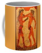 Fresco Of Boxing Children Coffee Mug