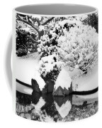 Fresh Snow And Reflections In A Japanese Garden 1 Coffee Mug