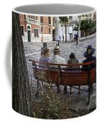 Friends On Park Bench Coffee Mug