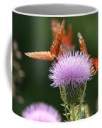 Fritillary Wings And Thistles Coffee Mug