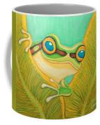 Frog Peeking Out Coffee Mug