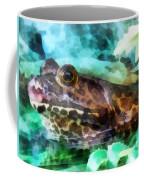 Frog Ready To Be Kissed Coffee Mug by Susan Savad