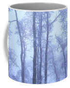 Frost Covered Trees In Fog, Alaska Coffee Mug