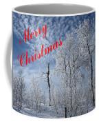 Frosted Trees Christmas Coffee Mug