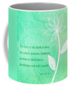 Fruit Of The Spirit Coffee Mug by Linda Woods