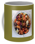 Fruity Tea With Bamboo Leaves Square Coffee Mug
