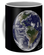 Full Earth Showing Two Tropical Storms Coffee Mug