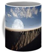 Full Moon Rising Above A Sand Dune Coffee Mug