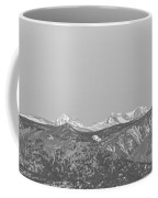 Full Moon Setting Over The Co Rocky Mountains Bw Coffee Mug