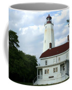 Full View Of Sandy Hook Lighthouse Coffee Mug
