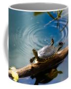 Funny Turtle Catching Some Rays Coffee Mug