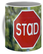 Gaelic Stop Sign Near Doocharry Coffee Mug by Rich Reid