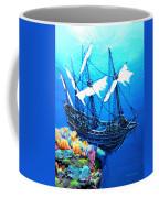 Galleon On The Cliff Filtered Coffee Mug
