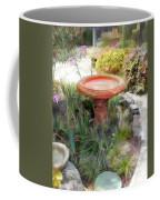 Garden Birdbath Coffee Mug