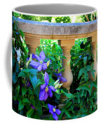 Garden Wall With Periwinkle Flowers Coffee Mug
