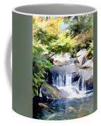 Garden Waterfall With Koi Pond Coffee Mug