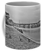 Geese Along The Schuylkill River Coffee Mug