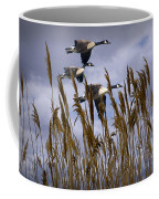 Geese Coming In For A Landing Coffee Mug