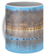 Geese In The Schuylkill River Coffee Mug
