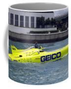 Geico Race Boat Coffee Mug