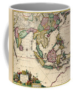 General Map Extending From India And Ceylon To Northwestern Australia By Way Of Southern Japan Coffee Mug