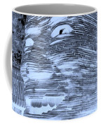 Gentle Giant In Negative Cyan Coffee Mug