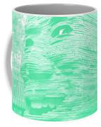 Gentle Giant In Negative Green Coffee Mug