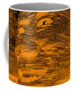 Gentle Giant In Negative Orange Coffee Mug