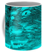 Gentle Giant In Negative Turquois Coffee Mug