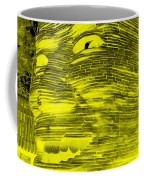 Gentle Giant In Negative Yellow Coffee Mug