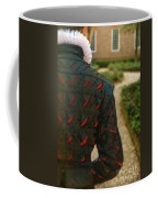 Gentleman In 16th Century Clothing On Garden Path Coffee Mug