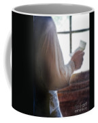 Gentleman In Vintage Clothing Reading A Letter Coffee Mug