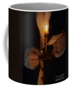 Gentleman In Vintage Clothing With Candlestick And Letters Coffee Mug