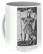 George Cumberland (1558-1605). George De Clifford Cumberland. 3rd Earl Of Cumberland. English Naval Commander And Courtier. Line Engraving, English, Early 19th Century Coffee Mug