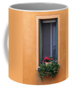 Geraniums In A Yellow Window In Treviso Italy Coffee Mug