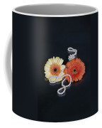 Gerberas With Pearls Coffee Mug