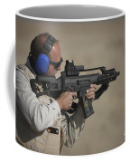 German Police, Isaf Member Fires A G36k Coffee Mug