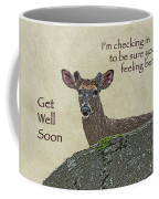 Get Well Card - Whitetail Deer In Velvet Coffee Mug