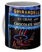 Ghirardelli Chocolate Signs At Night Coffee Mug