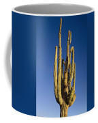 Giant Saguaro Cactus Portrait With Blue Sky Coffee Mug