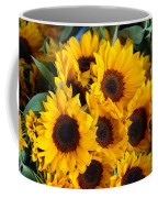 Giant Sunflowers For Sale In The Swiss City Of Lucerne Coffee Mug