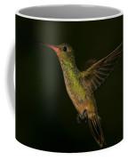 Gilded Hummingbird In Flight Coffee Mug