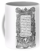 Giovio: Title Page, 1525 Coffee Mug