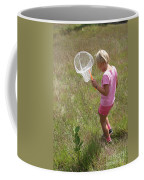 Girl Collecting Insects In A Meadow Coffee Mug