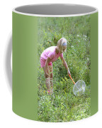 Girl Collects Insects In A Meadow Coffee Mug by Ted Kinsman