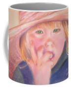 Girl In Straw Hat Coffee Mug by Julie Brugh Riffey