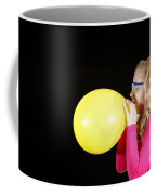 Girl Inflating Balloon Coffee Mug